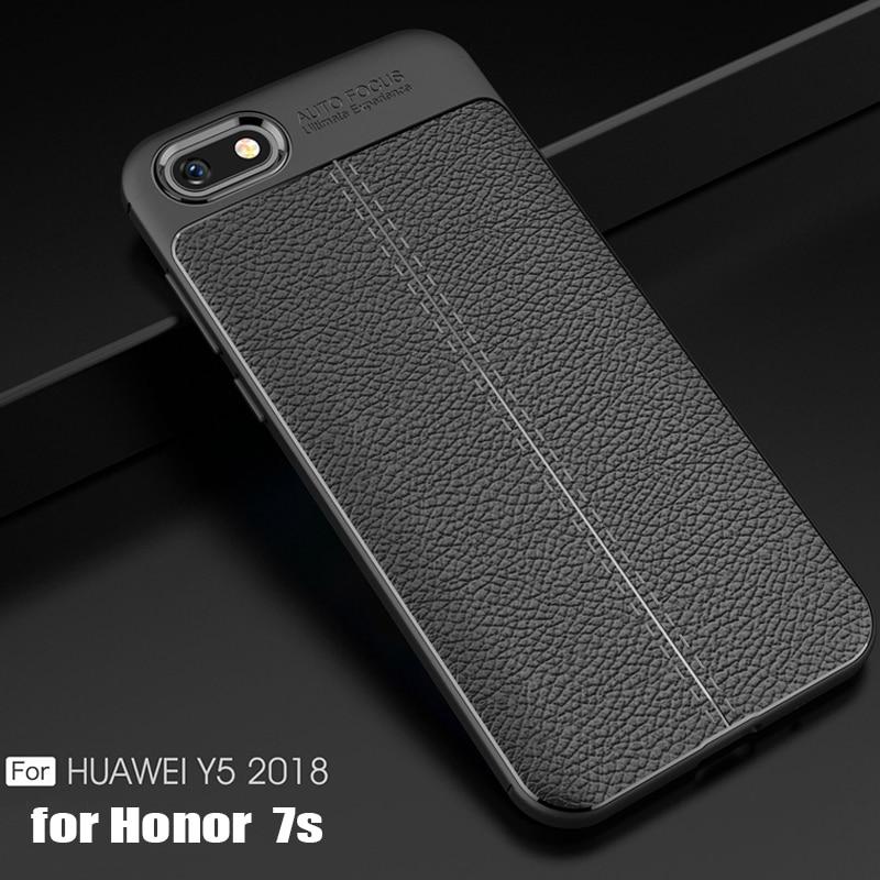 YueTuo кожаный чехол на заднюю панель телефона, чехол, чехол для huawei Y5 2018 y 5 prime для honor 7 s 7 s 7a DUA L22 5,45 силикон