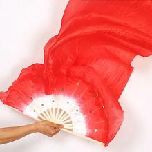 1,8 m Hand Made Bunte Bauchtanz Bambus Lange Silk Fans Schleier Dance Fan 7 Farben