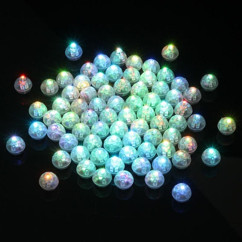 100 unids/lote bola redonda vaso LED globo luces Mini Flash lámparas luminosas para linterna barra Navidad decoración para fiesta de boda