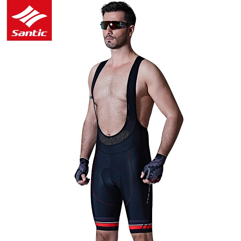 Santic hombres nuevos ciclismo BiB shorts verano bicicleta MTB bicicleta 4D acolchado transpirable montaña Ciclismo de Carretera equipo profesional de montar, ropa