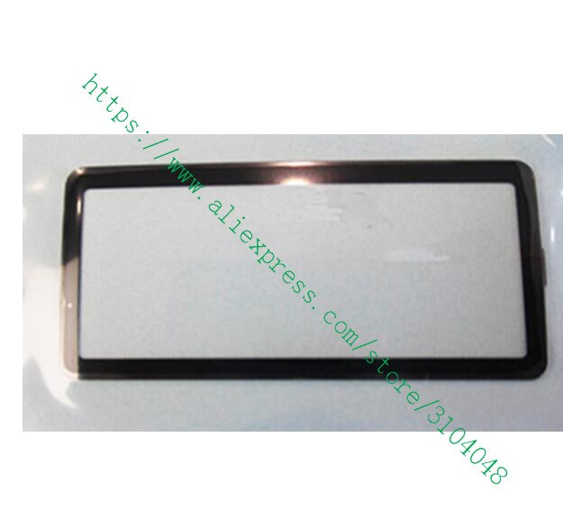 NUEVA cubierta de cristal de ventana de pantalla LCD exterior superior de cámara Digital (Acrílico) + cinta para Canon EOS 5DII 5D Mark II pequeño Protector de pantalla
