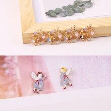 Breloques en émail de fleur pour fille, pendentif en alliage dalice à bricoler, 10 pièces