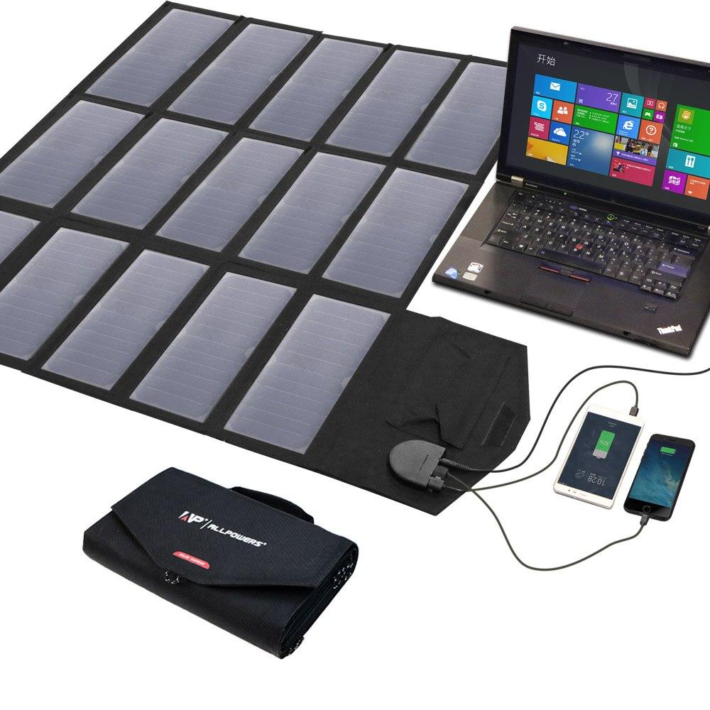 Outdoor Portable Solar Panel Charger 100W 18V 12V Foldable Solar Panel Solar Battery Charger for iPhone Laptop Cellphones