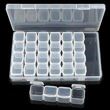 Outil à ongles boîte de réception de bijoux 28 treillis Transparent boîte de réception de bijoux boîte amovible
