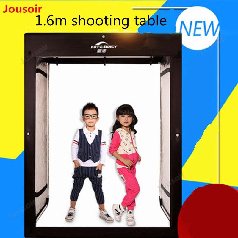 LED gran estudio de rodaje de 160 CM softbox niños foto modelo de caja de luz de gabinete de ropa estudio CD50 T03