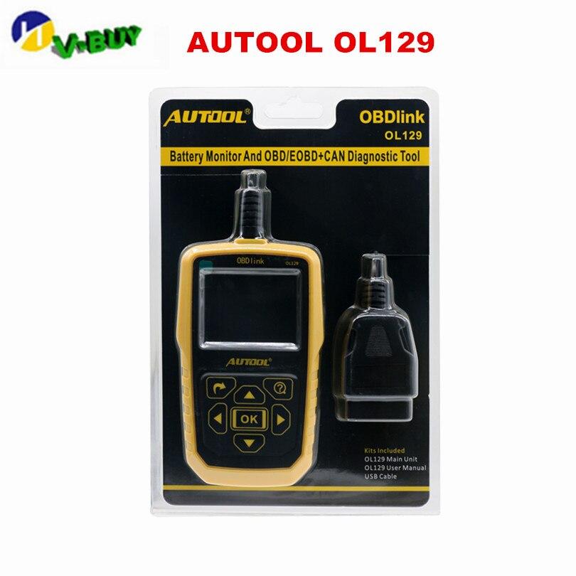 AUTOOL OL129 OBD CAN Universal automotriz escáner motor Error diagnóstico herramienta mejor que AUTEL 519