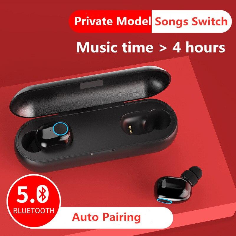 Q1 TWS auricular Mini Bluetooth 5,0 pequeño auricular inalámbrico Invisible auriculares de...