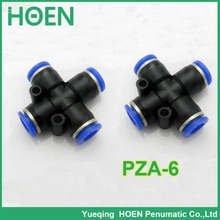 PZA APZA tube pneumatique raccord de tuyau   100 pièces tube pneumatique, raccord de tuyau, 6mm un contact, raccords de tuyaux poussoirs