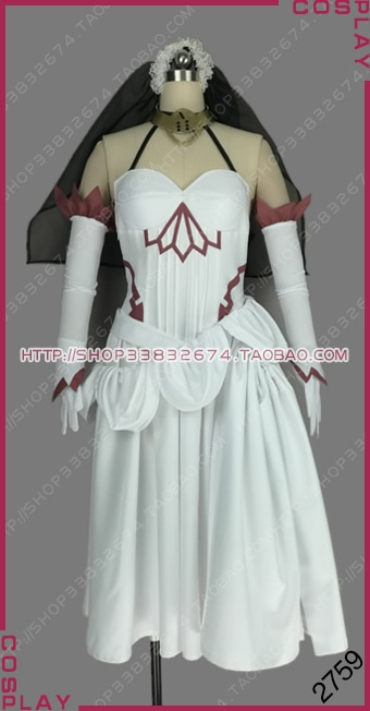 Fate/Apocrypha черное фракция слуга берсеркер черного Франкенштейна белое платье Косплей Костюм S002