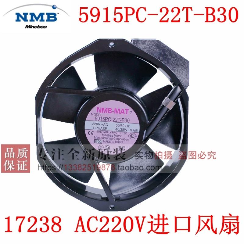 جديد NMB-MAT NMB 5915PC-22T-B30 17238 AC220V التردد UPS التبريد مروحة