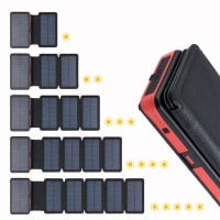 Foldable Solar Power Bank 20000mAh Dual USB Waterproof powerbank batterie externe Solar panel Charger for Xiaomi iphone HUAWEI
