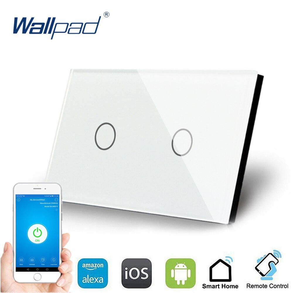 Ons 2 Gang Wifi Controle Touch Schakelaar Wallpad Ondersteuning Smart Home Alexa Google Home Ios Android 2 Gang Au Muur schakelpaneel