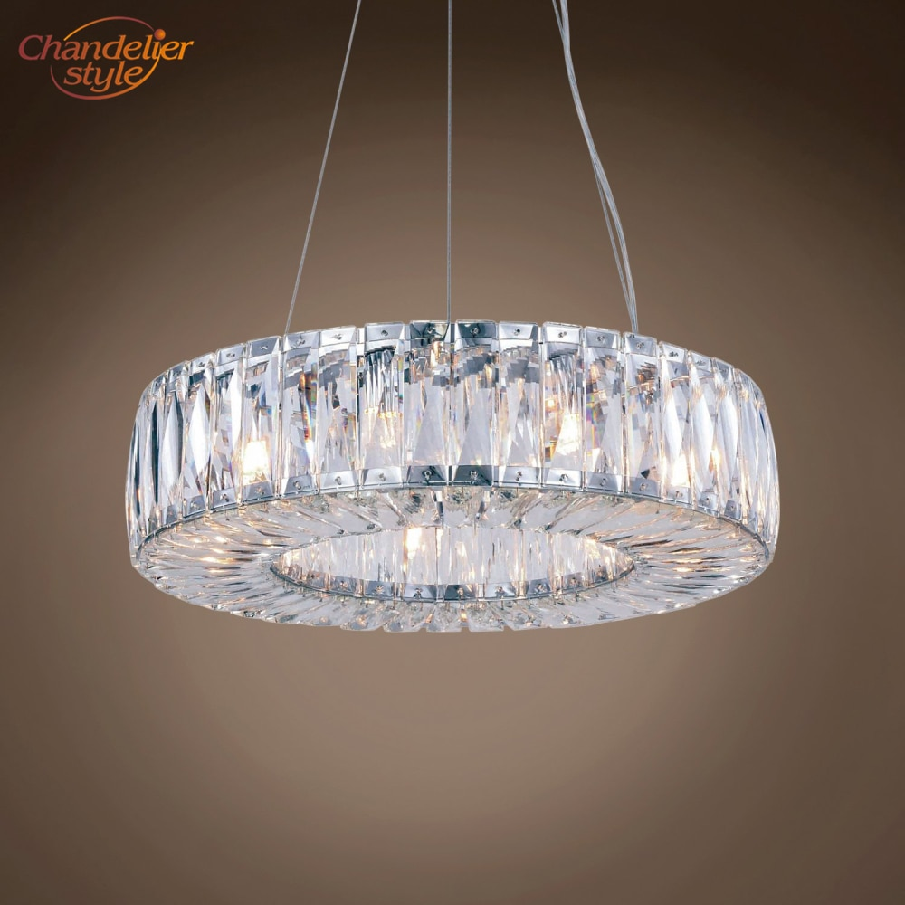 Modern Halo Crystal Chandelier Lamp Light Lighting Luxury Round Chandeliers Hanging Fixtures for Home Restaurant Dining Room  - buy with discount