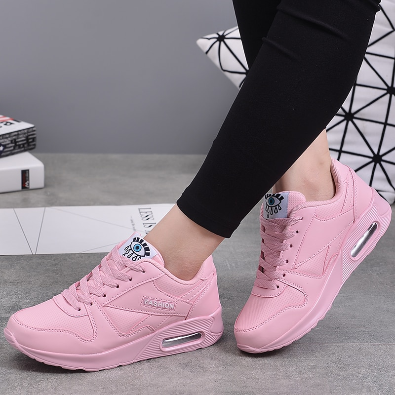 MWY Winter Fashion Women Casual Shoes Leather Platform Sneakers Ladies White Trainers Light Weight Chaussure Femme