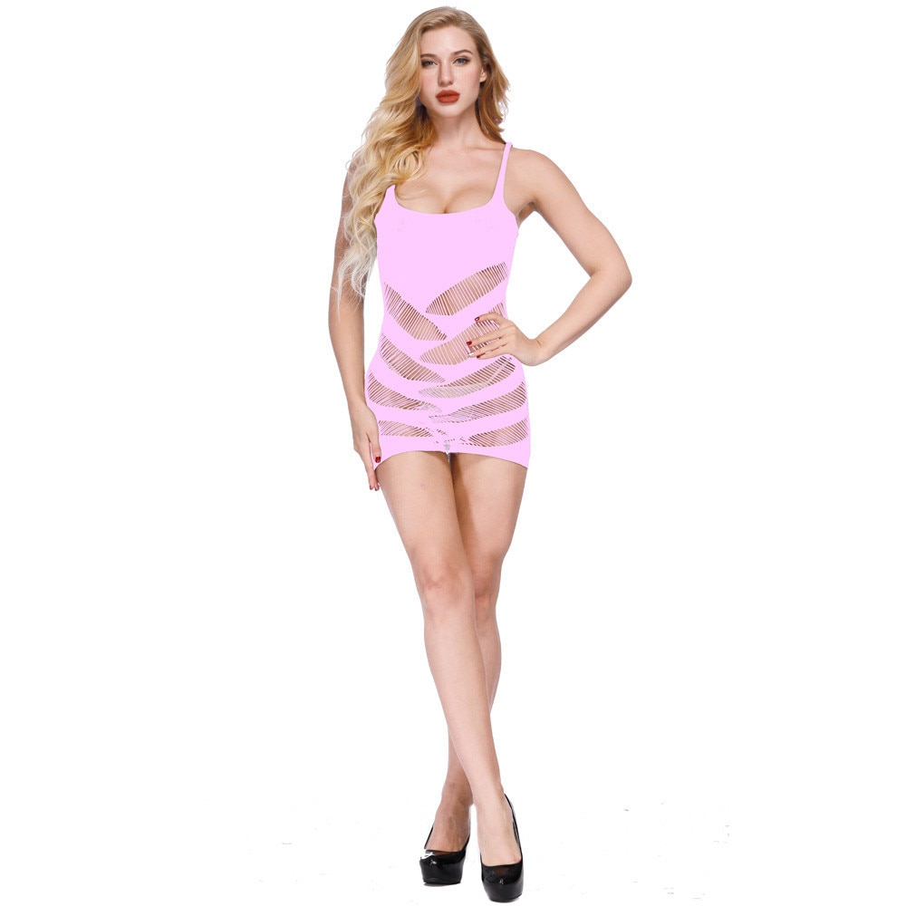 Lencería Sexy, ropa interior erótica, pijama muñeca para mujer, sección delgada, malla transparente, tentación encantadora de burlete, ultrafina H5
