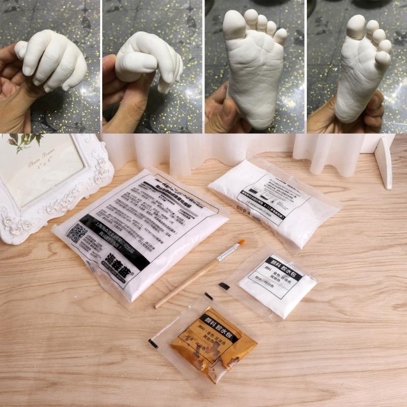 1 Bag 3D Plaster Handprints Footprints Baby Kids Adult Hand Foot Casting Kit Keepsake New