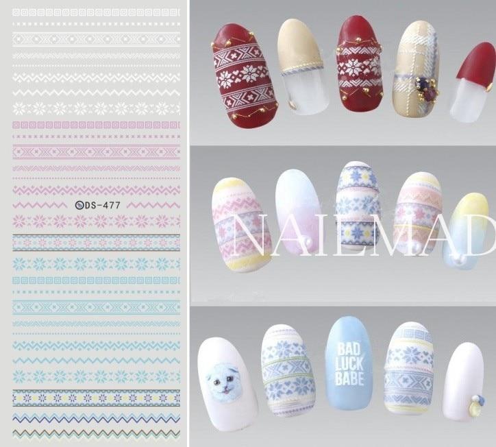 1 Sheet Christmas Snowman Nail Water Decals Snowflake Nail Art Transfer Stickers Deer Pattern Water Slide