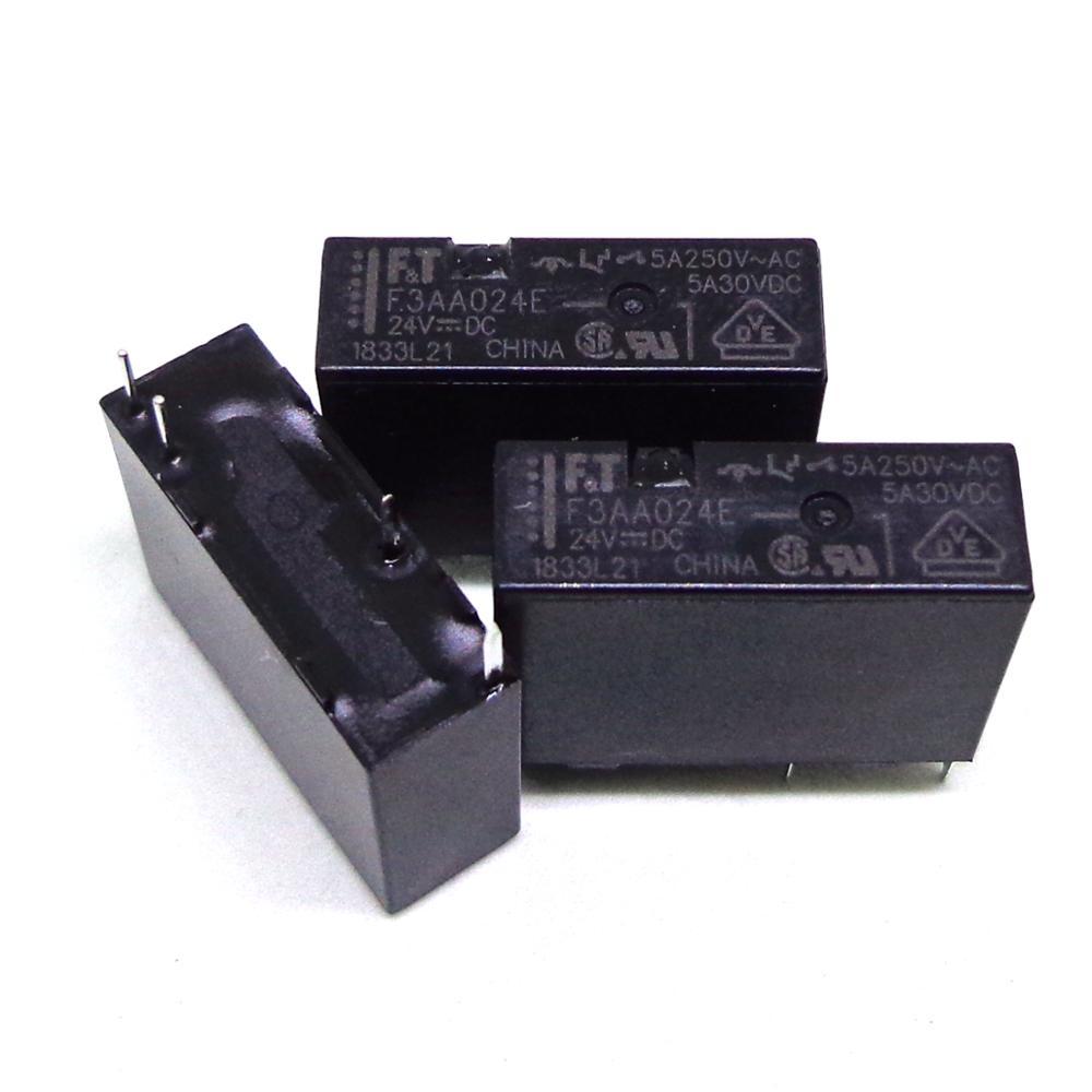 20 قطعة FT تتابع F3AA024E F3AA012E F3AA005E 24VDC 12VDC 5VDC العلامة التجارية جديد ومبتكرة تتابع