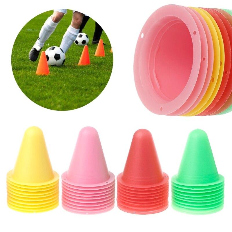 10 unids/set Skate conos marcadores Roller fútbol Entrenamiento de fútbol equipo marcado Copa