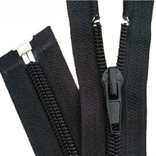 10PCS  Black 15-180cm Zippers Open End Zipper Nylon Zipper for Sewing Garments Long Coat Down Jacket