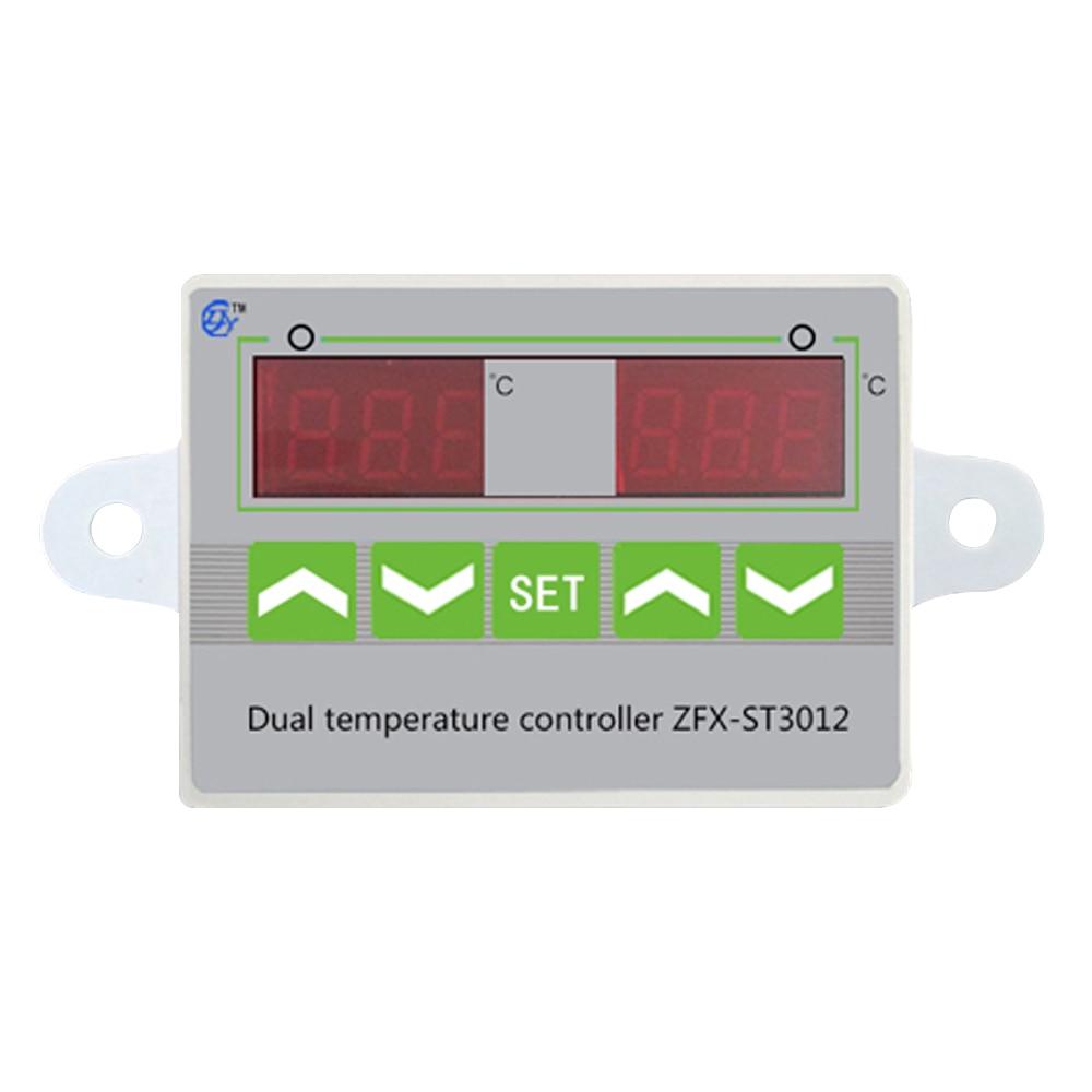 Controlador de Temperatura Inteligente do microcomputador Temperat ZFX-ST3012 Interruptor para Controle de Temperatura Duplo e Duplo Eletrônico