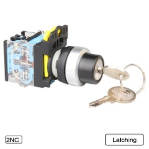 5 PCS Push button switch Selector switch Key-operated 3-Position Latching OR Momentary Waterproof IP65 LA115-B5-11YS