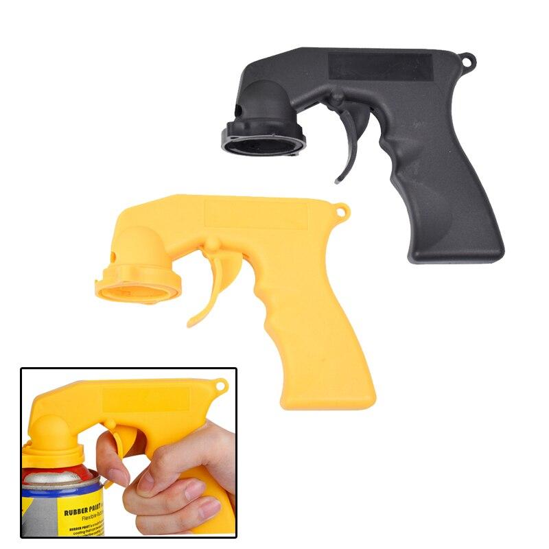 Pulverizador de Aerosol, mango de pistola con adaptador de agarre completo, Collar de bloqueo para mantenimiento de pintura de coche, herramienta de pintura