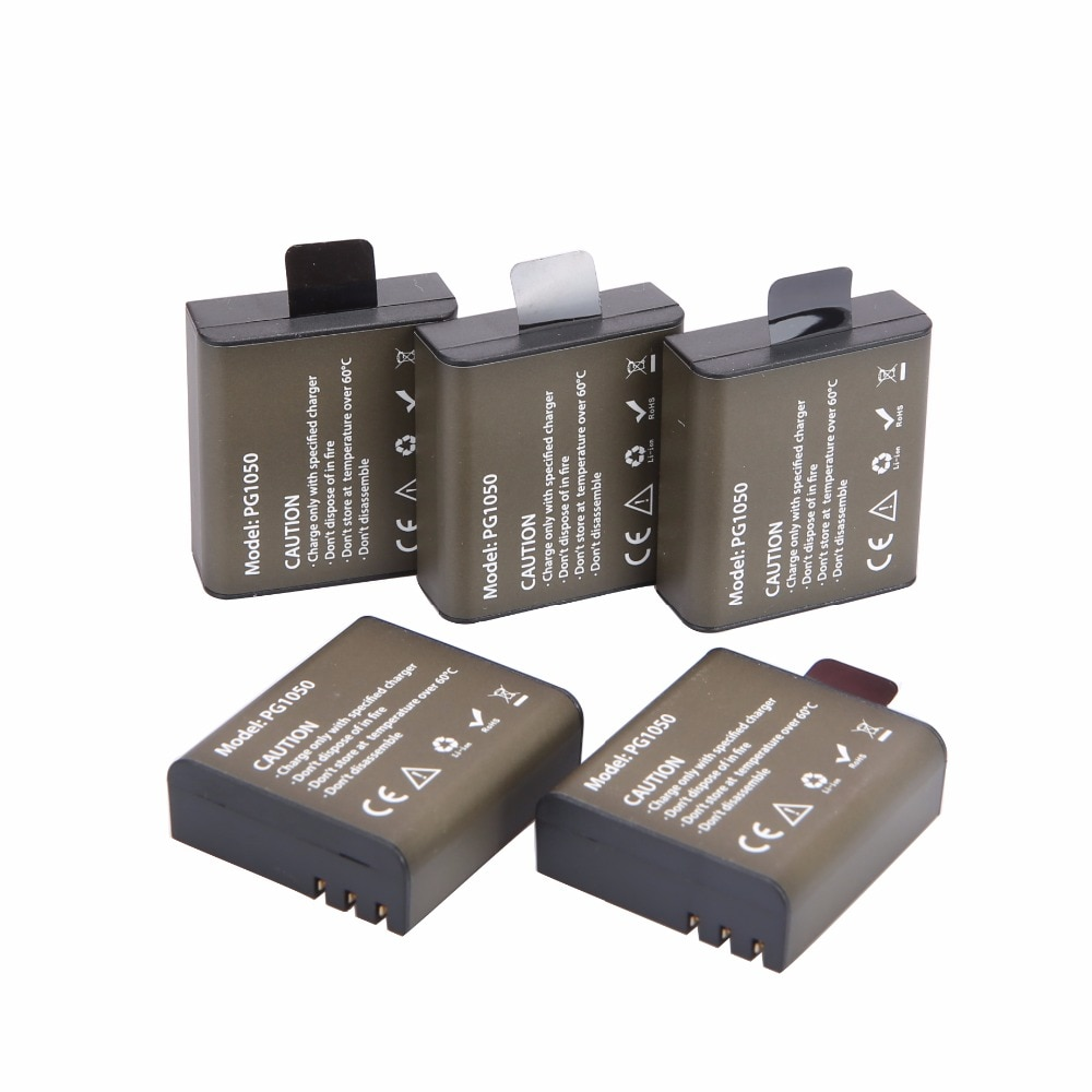 AOPULY 5 قطعة SJ4000 PG1050 بطارية Bateria SJCAM SJ4000 SJ5000 EKEN M10 4 كيلو بطارية الكاميرا eken H8 H9 GIT-LB101 GIT PG900