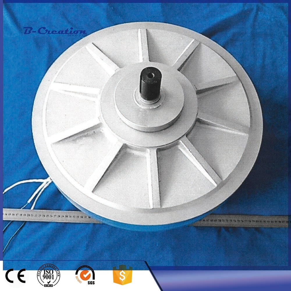PMG 500W 350RPM generador de PMG sin núcleo/Alternador de viento generador de rotor exterior, alternador trifásico de imán permanente