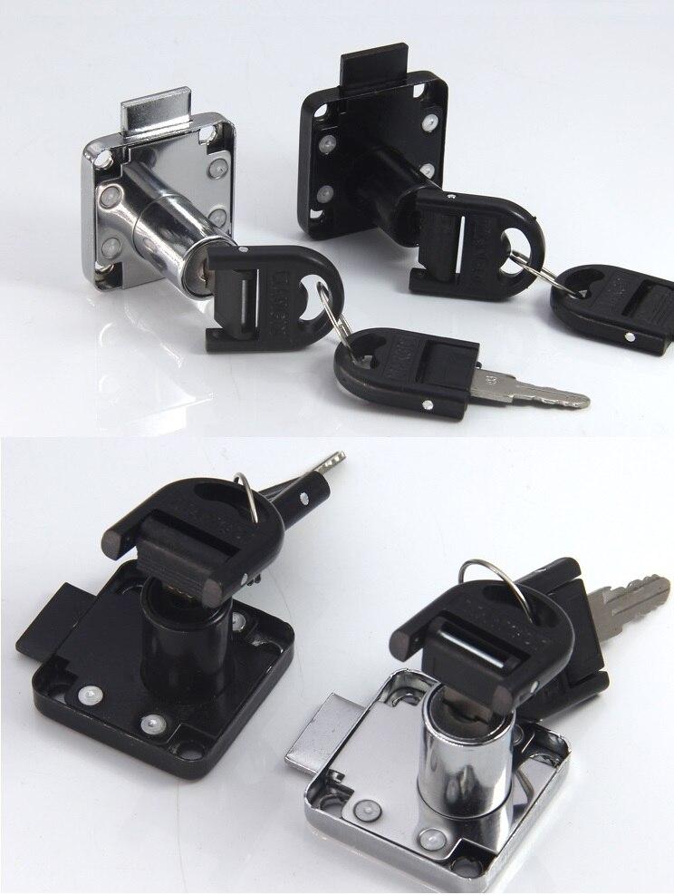 Premintehdw Office Desk Lock for Drawer & Door Furniture Cupboard Cylinder Drawer Lock Hardware Square