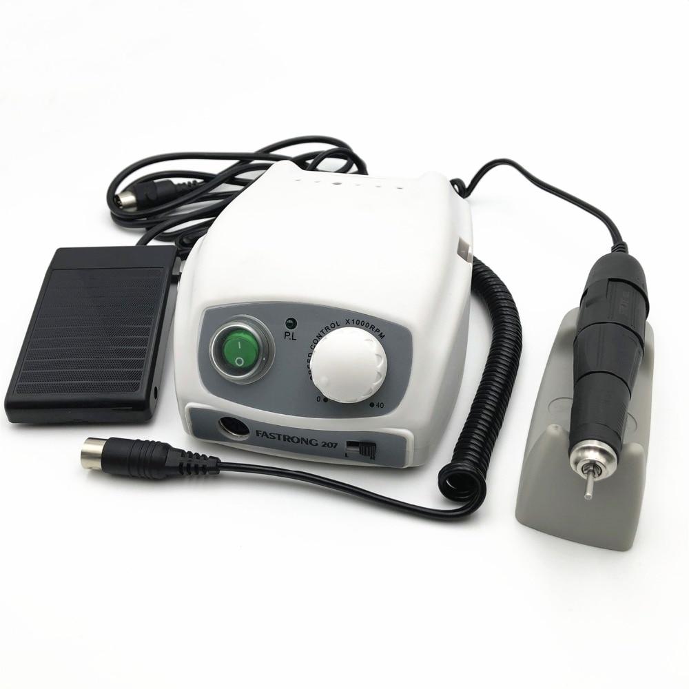 Мощный микромотор 207B для маникюра 210 102L, 40000 об/мин, электрическая дрель для маникюра, устройство для полировки ногтей