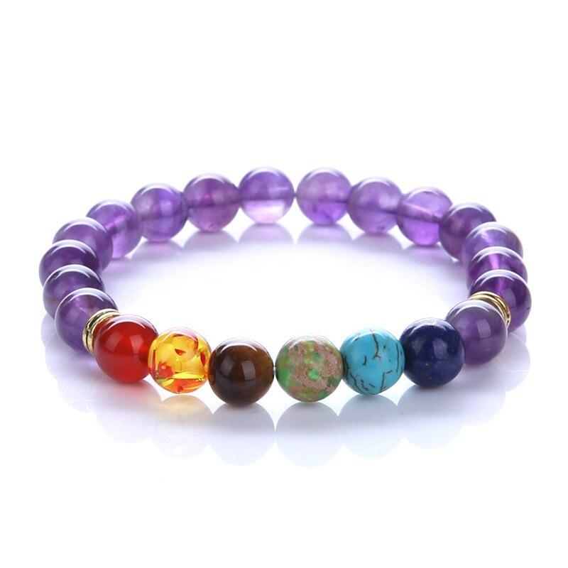 Модные женские Mcllroy бусы браслет Lucky красочные энергия чакры Йога Будда бусина, натуральный камень женские браслеты
