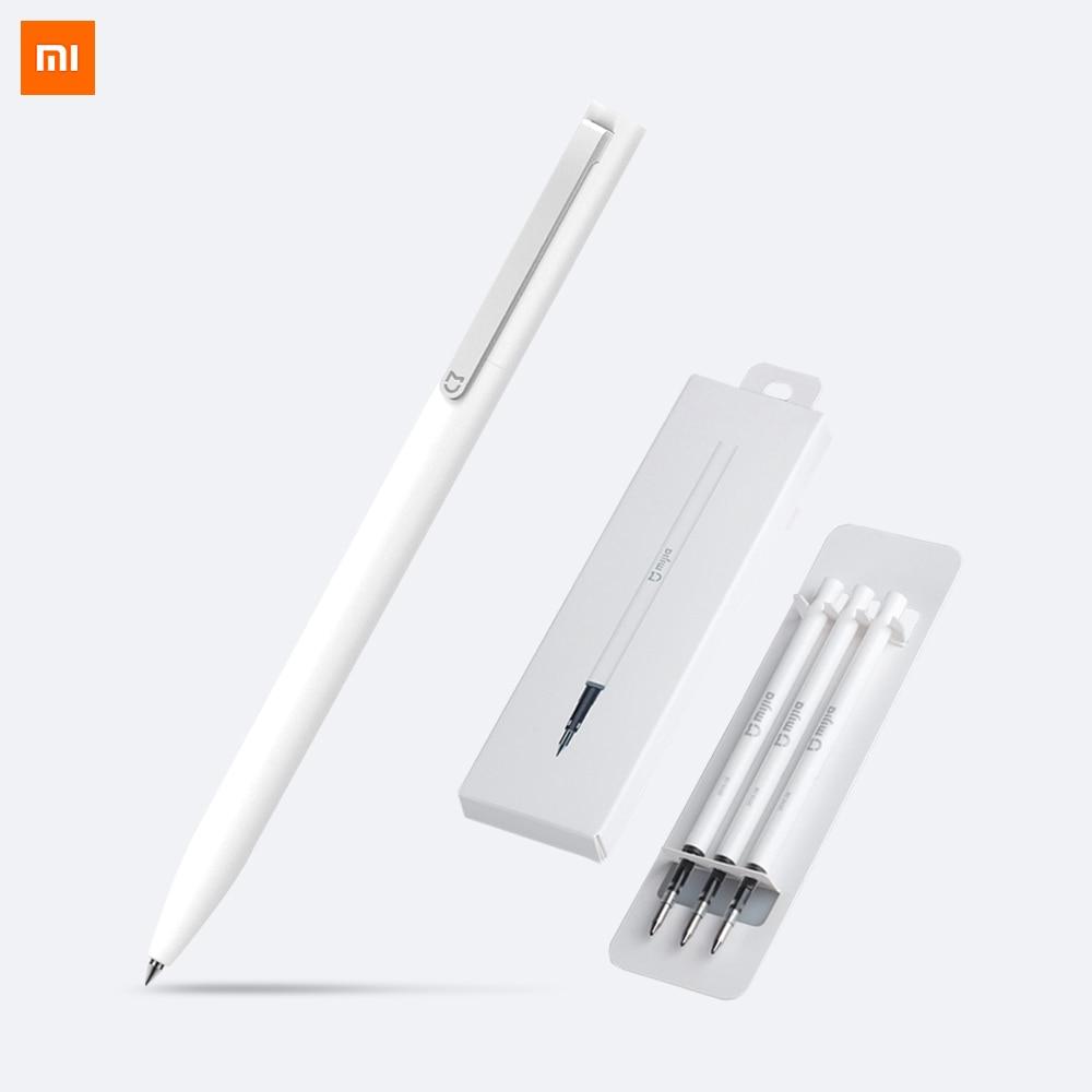 Xiao mi mi jia kalem ile 0.5mm İsviçre dolum 143mm haddeleme rulo Top Işareti Kalem mi Xio mi işareti Imza Tükenmez Kalem