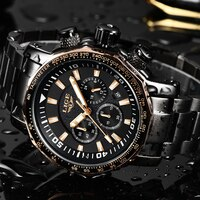 LIGE Fashion Brand Mens Watches Full Steel Business Quartz Clock Military Sport Waterproof Watch For Men+Box Relogio Masculino