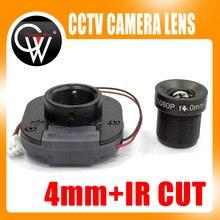 Équipement de coupe IR 4mm 1080P, M12 pour caméra de vidéosurveillance complète AHD IP HD, montage MTV