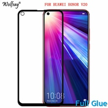 2PCS Full Glue Screen Protector For Huawei Honor View 20 Tempered Glass Full Cover for Huawei Honor