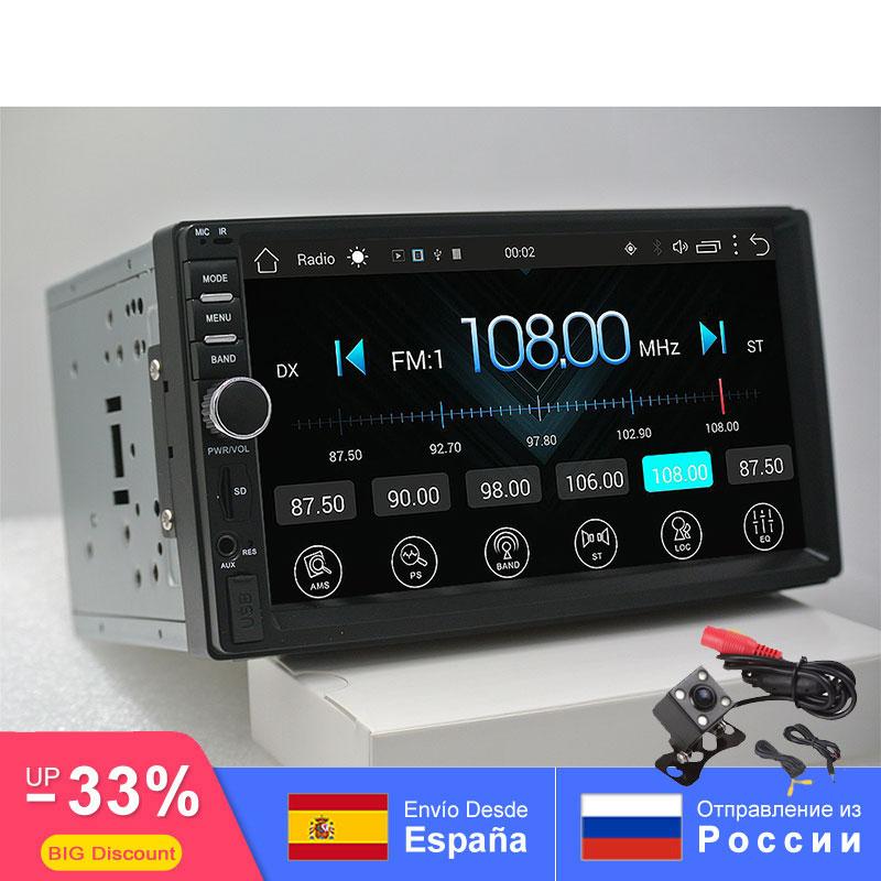 2din Android Car Radio Auto Bluetooth doble Din Multimedia Universal GPS WIFI FM 1024*600 Dab para Nissan Toyota Volkswage SW