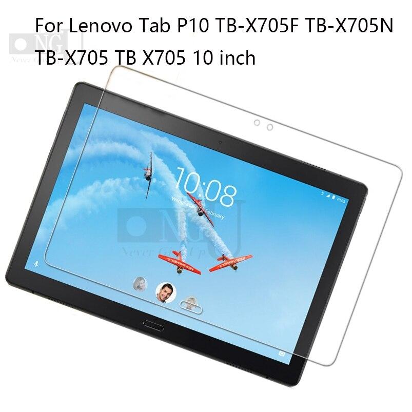 "Vidrio templado para Lenovo Tab P10 Protector de pantalla para TabP10 10,1 ""TB-X705 X705L Protector de pantalla 9H"