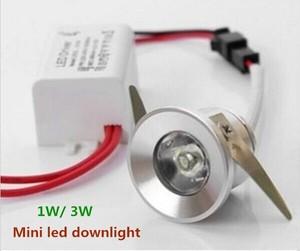 10pcs/lot 1W/3W mini led down lights  dimmable led cabinet light AC110V220V Mini led lamps white or Warm white US UK EU