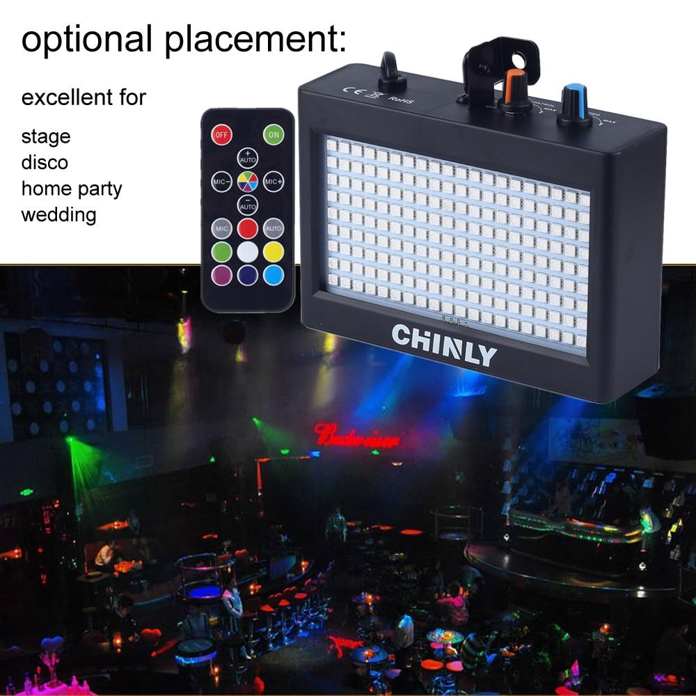 180 مصباح ستروب led ، محمول ، 35 واط RGB ، جهاز تحكم عن بعد في الصوت ، سرعة قابلة للتعديل للمرحلة ، ديسكو ، بار ، نادي الحفلات