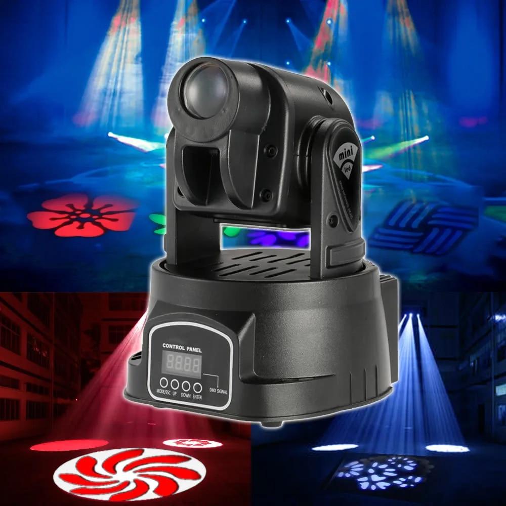 קלאסיקות מיני הזזת ראש אור 4 יח'\חבילה 15 W LED אורות במה DMX 512 5/13 ערוצים מנורת למסיבה