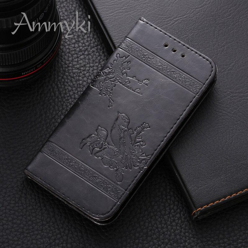 """Funda trasera para teléfono AMMYKI Crazy Ma Wen con diseño de piel abatible de calidad insípida 5,65 """"para huawei honor 9 lite"""