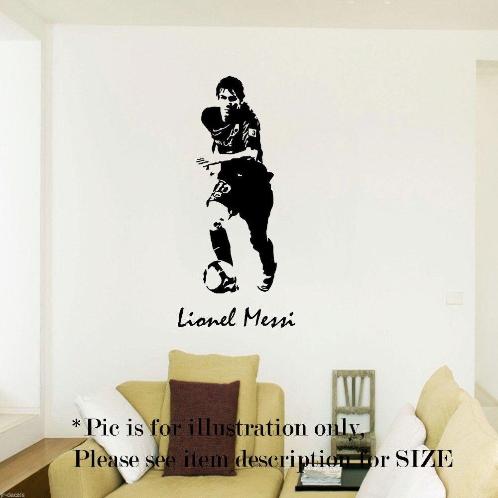 Jugador de fútbol Messi Pegatina Deportes Fútbol Decal Posters Quadro de Parede Decoración Mural Vinilo Tatuajes de Pared Pegatina Pegatina de Fútbol