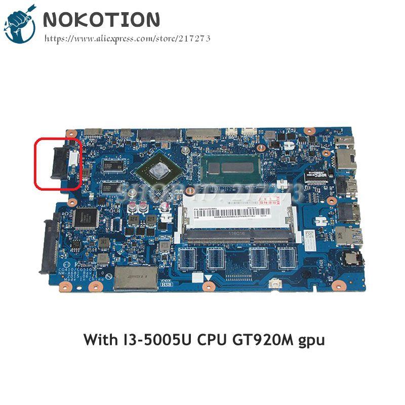NOKOTION CG410 CG510 NM-A681 Tablero Principal para Lenovo Ideapad 100-14IBD placa base de computadora portátil SR27G i3-5005U CPU GT920M