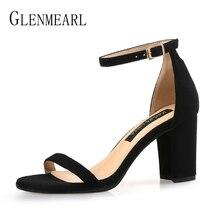Sandales femme chaussures dété talons hauts marque orteils ouverts bride à la cheville boucle femmes sandales grande taille talons épais noir chaussures de fête