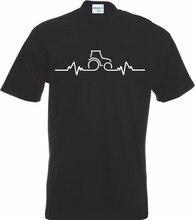 Nouveau mode hommes Hip Hop rue t-shirttracteur coeur battre pouls T-Shirt ferme fermier agriculture blague drôle cadeau anniversaire T-Shirt