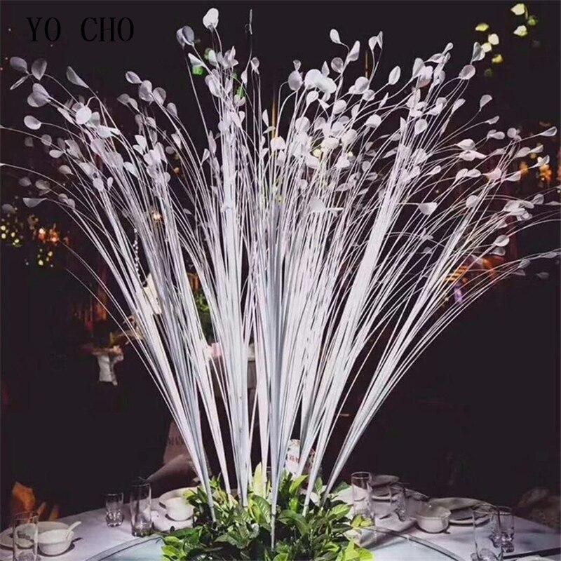 115cm 25 cabezas nuevo Mini ramo de flores de Calla Artificial lirio de imitación plantas hogar boda decoración Pavo Real hierba Reed flores blancas