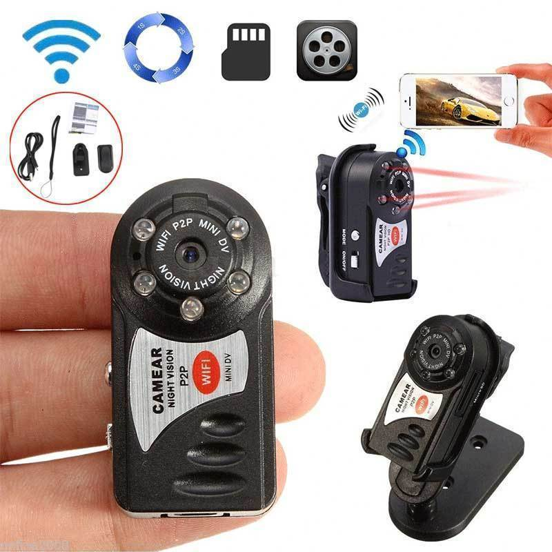 Tarjeta de 16 GB + Cámara WIFI inalámbrica Q7 Mini grabadora de vídeo P2P DVR visión nocturna