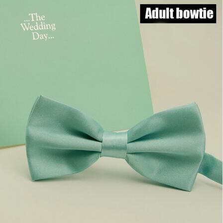 5pcs Fashion Mint Green Bowtie Men Wedding Party Solid Color Ties