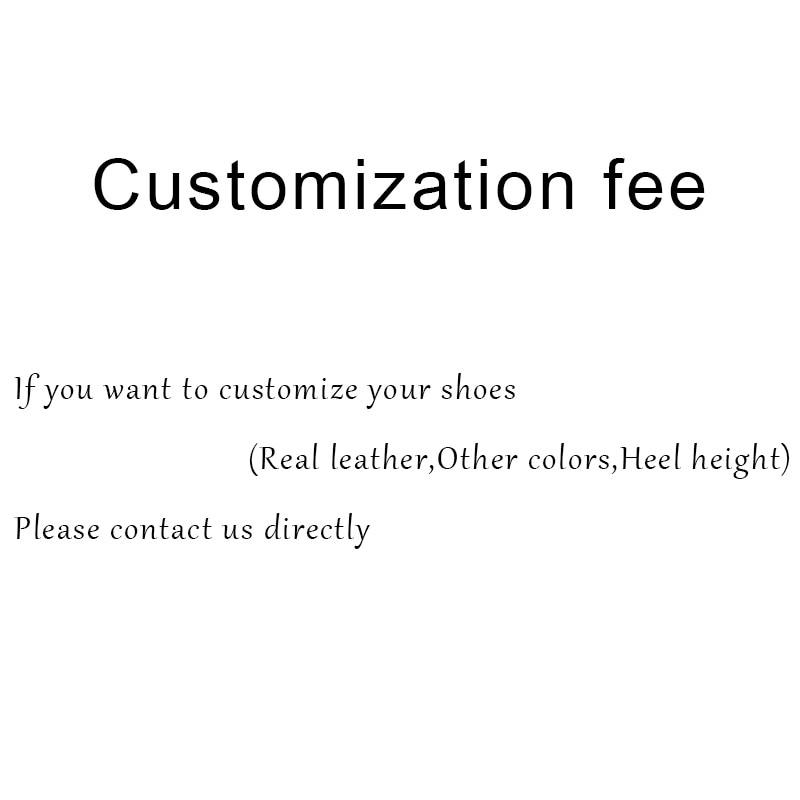 Customization Fee 15$ Women Sexy Genuine Leather Platform Pump Boots High Heels Sandal Flats Bottom